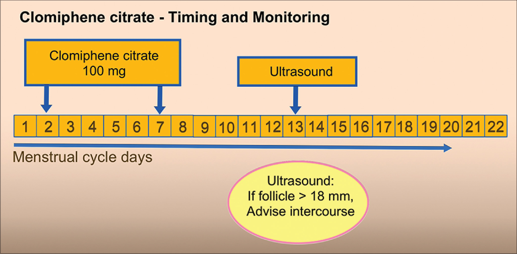 Figure 3: Timing and monitoring of clomiphene citrate