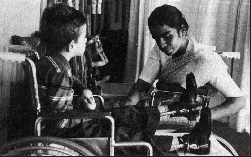 Figure 4: Examining a child with disability.